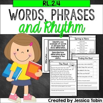 Words and Phrases in a Poem or Story, Poetry RL2.4-This pack is packed full of ideas and resources to use while you are teaching the CCSS standard RL 2.4. If you are not teaching Common Core, then the pack is still valuable to use when teaching students to describe how words and phrases help in poetry.