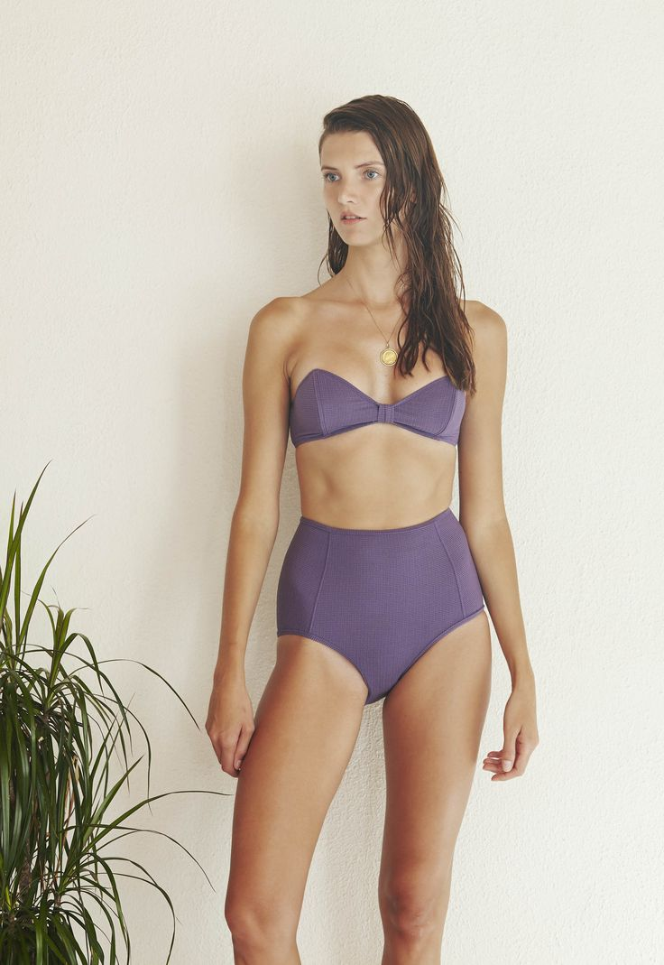 Oh Cheri Bikini Set in Textured Violet  http://www.bowerswimwear.com/collections/spring-2016-francois/products/oh-cheri-bikini-textured-violet