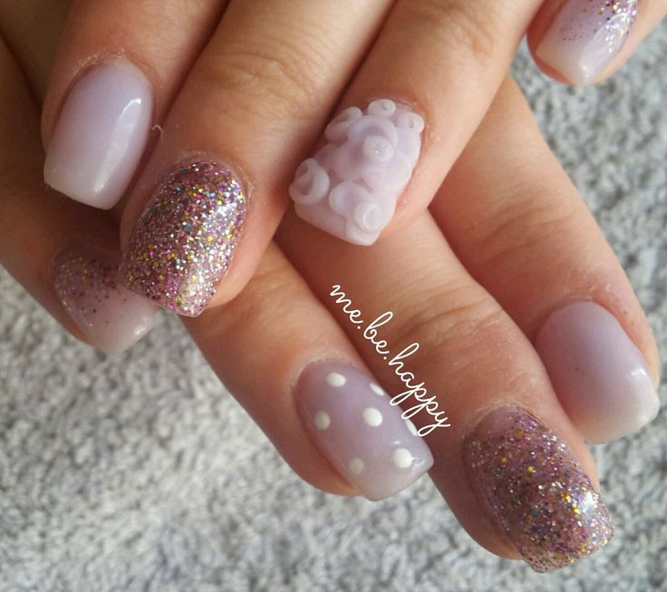 The 25 best 3d flower nails ideas on pinterest 3d acrylic nails pastel purple acrylic with carnival glitter and 3d flower nail art prinsesfo Image collections
