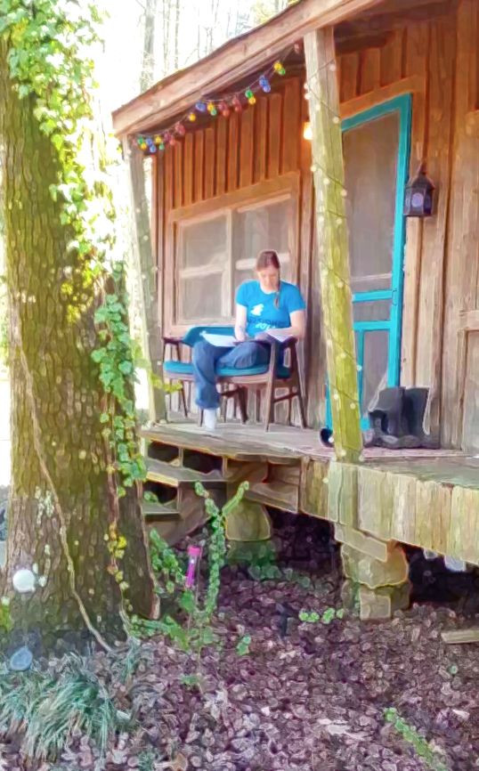 Songwriting sessions at The Pixie House studio in Arkansas, owned by S.J. Tucker (Queens of Avalon musical, produced by Heather Dale).