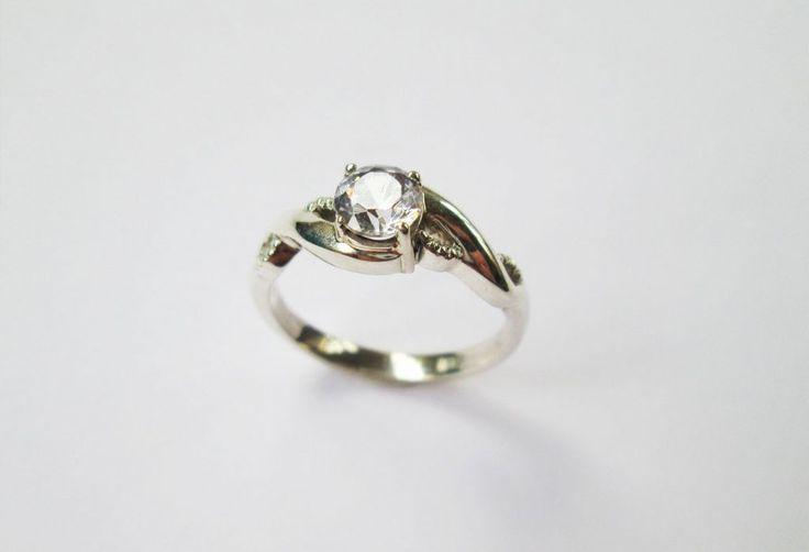 Tisted Engagement ring #diamond #twistyring #uniqueweddingring #kinkel