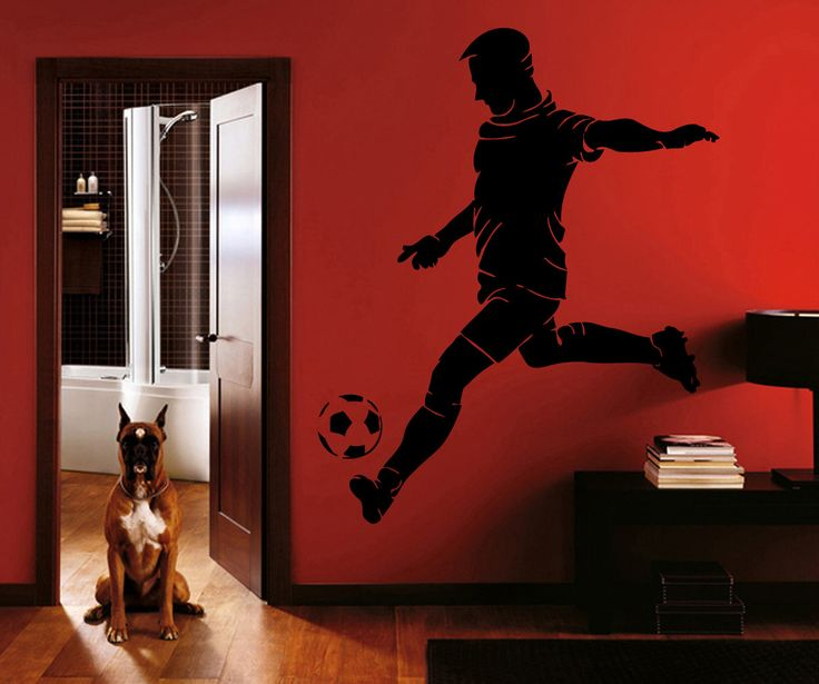 ik989 Wall Decal Sticker European football sports team game children's bedroom