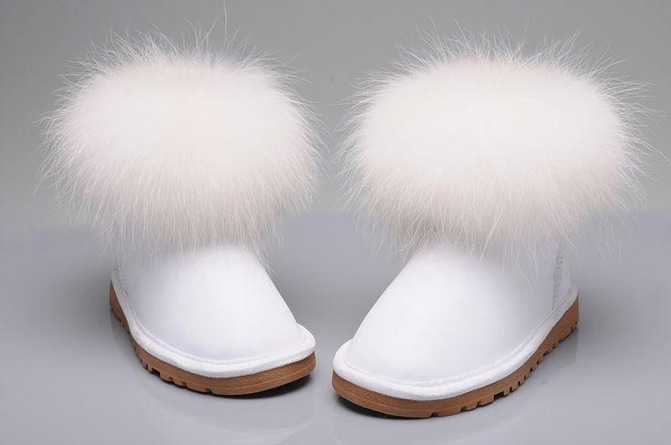 http://www.ubootsblackfriday2014ca.com , Ugg Boots - Uggs Fox Fur Classic Mini 5854 White