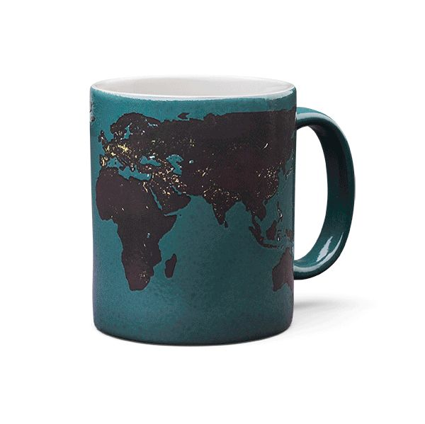 Thermochromism makes us happy. Back in the 70s when color-changing mugs were in their infancy, the change was often one swirly thing being replaced by a different swirly thing or a word appearing. Now, however, clever is key, and this fits the bill.