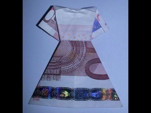 ▶ Kleid aus Geldschein falten - Geldgeschenk für Hochzeit - YouTube