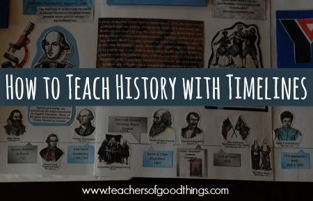 Make history fun with timelines! How to Teach History With Timelines | www.teachersofgoodthings.com