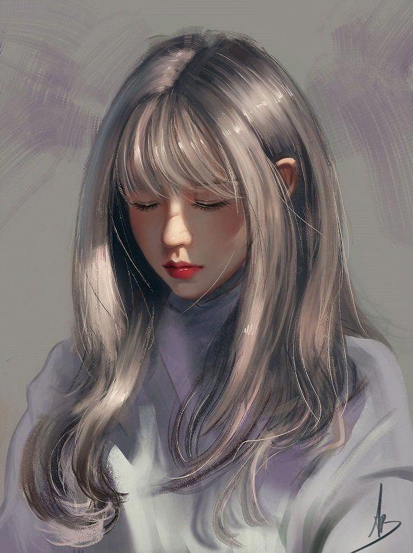 Realistic Anime Art In 2020 Digital Art Girl Digital Art Anime Anime Art Girl