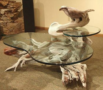 BALIKER is an artist who creates sculptural furniture from wood  This piece  is the  Osprey Table    Sculpture by Paul Baliker. Best 25  Driftwood table ideas on Pinterest   Driftwood coffee
