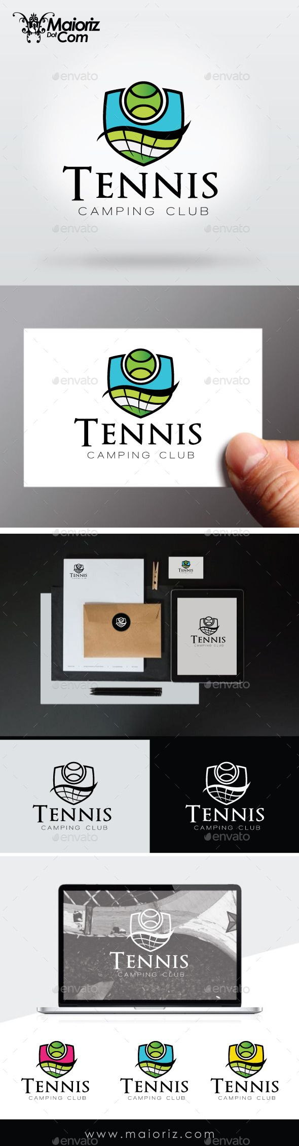 Tennis Club Logo Template — Vector EPS #fit #school • Available here → https://graphicriver.net/item/tennis-club-logo-template/9368397?ref=pxcr