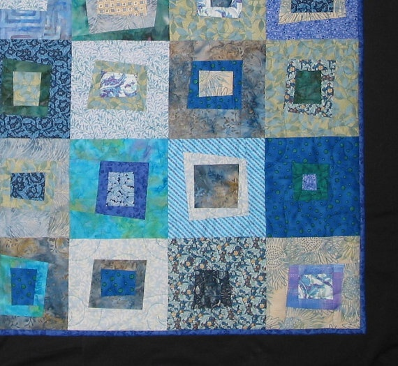 Blue Bayou Baby Quilt or Lap Quilt  146  4684 by GreenTurtleQuilts, $270.00
