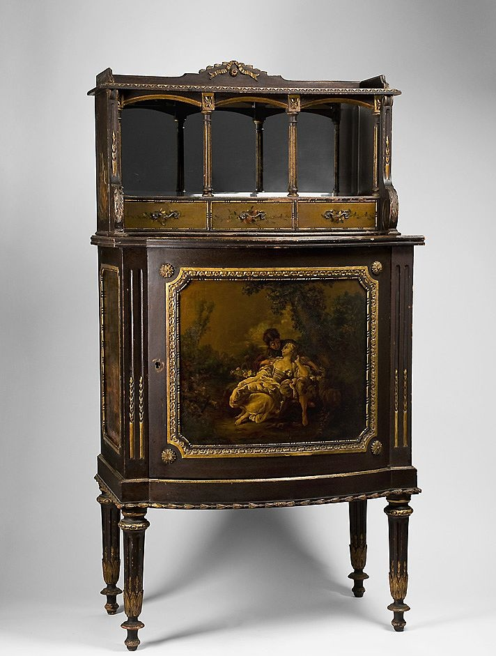 Late 19th Century French Vernis Martin Dressing Cabinet