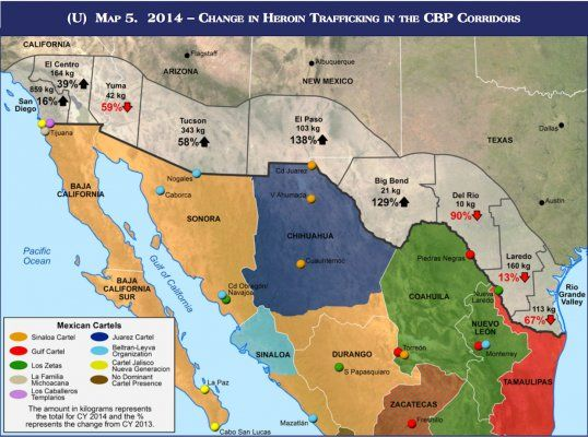 Heroin trafficking at southern US border