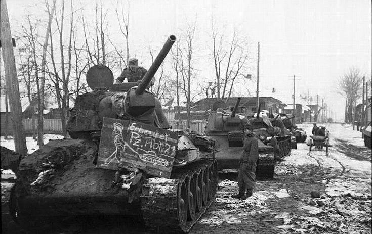 Captured russian T 34 tanks in german service.