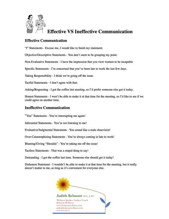 Effective Vs Ineffective Communication   For More Life Skills Handouts  Visitu2026