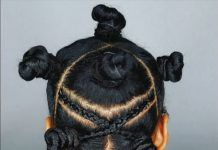 Cute Bantu Knot Hair Style Perfect For Little Girls