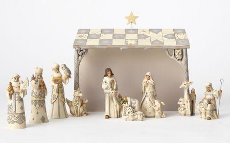 Woodland Mini Nativity Set Heartwood Creek 8 Pieces