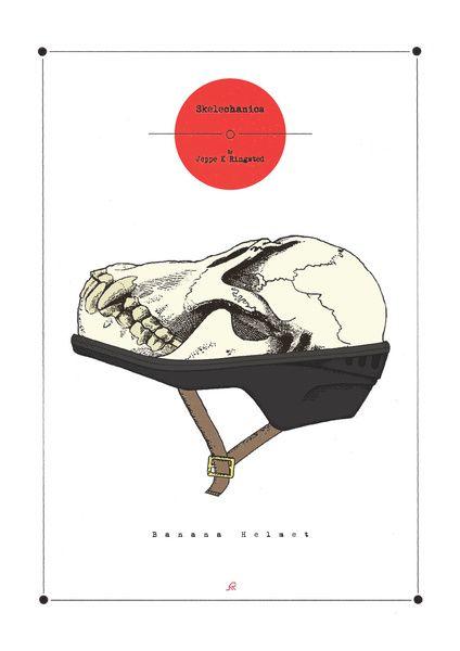 Banana Helmet Art Print by Jeppe K Ringsted | Society6