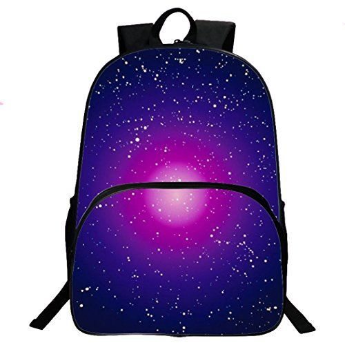 Sanrense Galaxy Pattern Unisex Travel Backpack Leisure Bags School Bag Gift Backpack G004 -- See this great product.