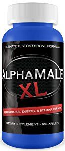 AlphaMALE 2x Male Enlargement Pills - Male Enhancement - Gain 3+ Inches - 100% Moneyback Guarantee / 1 Month Supply