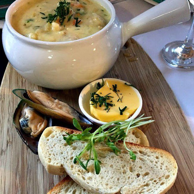 Beachway Motel and Restaurant: seafood chowder ~ article and photo for think-tasmania.com ~ #Ulverstone #Tasmania #seafood #foodie