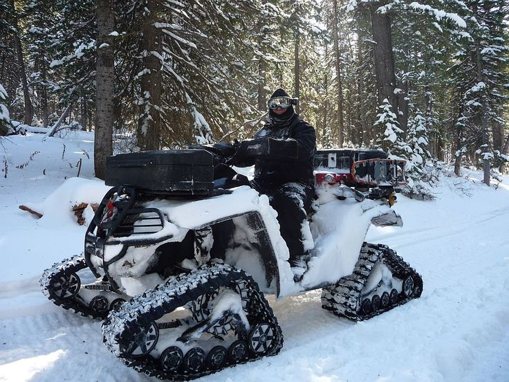 Would you rather ATV with tracks or Snowmobile till the