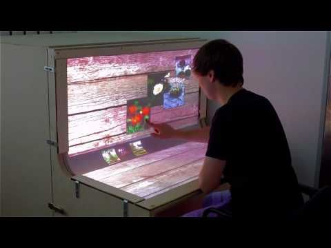 BendDesk: Multi-touch on a Curved Display - YouTube