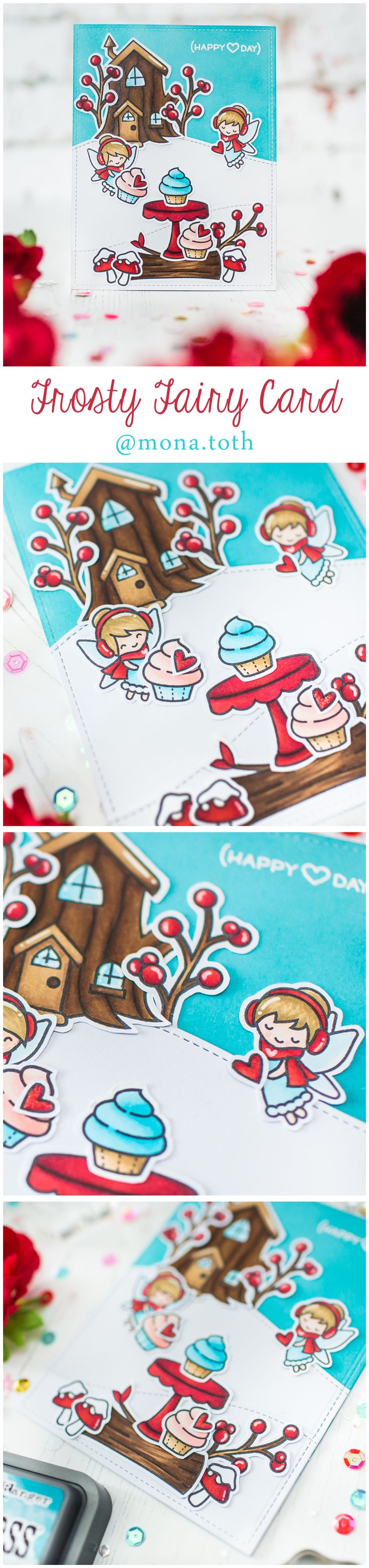Lawn Fawn Frosty Fairy Friends Baked with Love Card by Mona Toth |