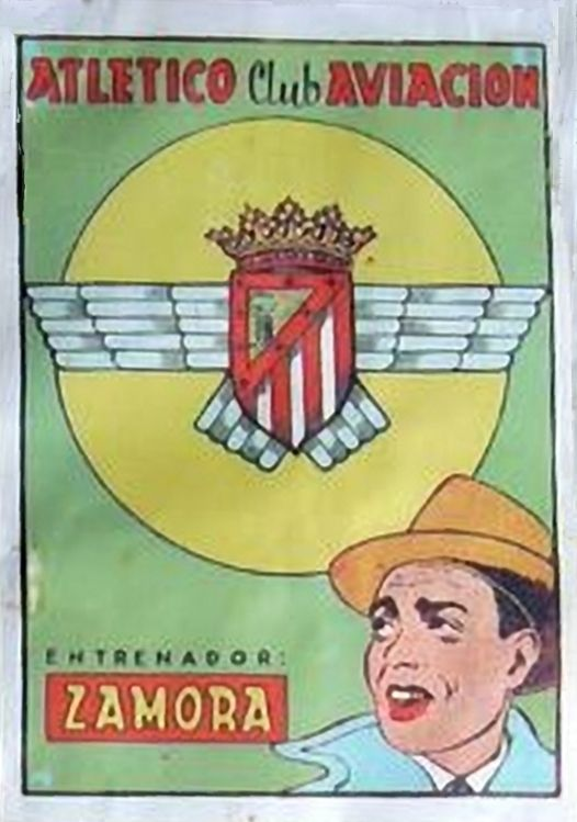 Ricardo Zamora. Atlético de Madrid. 1941-42. Cromos Bruguera. Entrenador.