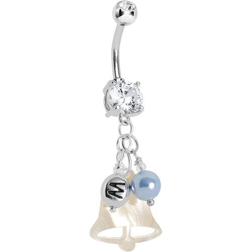 Handcrafted Custom Wedding Anniversary Personalized Belly Ring