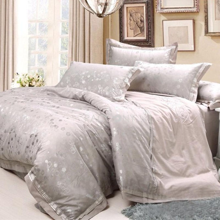 elegant charming design imitated silk fabric 4piece queen size duvet covers on paccony - Queen Size Duvet Cover