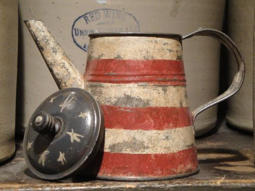 started with a as found vintage old tin coffee pot