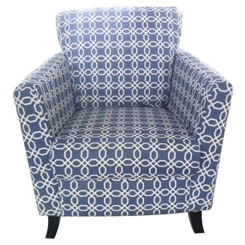 Found it at Wayfair - Geometric Arm Chair in Navy Blue/White