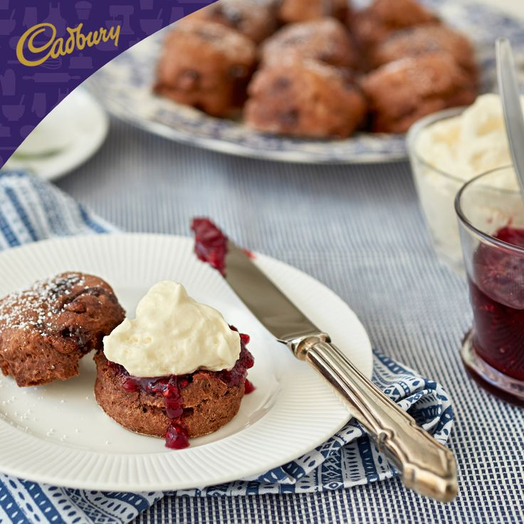 Delight your mum this Mother's Day with this delectable time-honoured tradition for morning or afternoon tea! These Chocolate Scones are particularly delicious when served warm with butter or cream.  #bakeitcadbury #baking #CADBURYrecipes #chocolate #dessert #scones