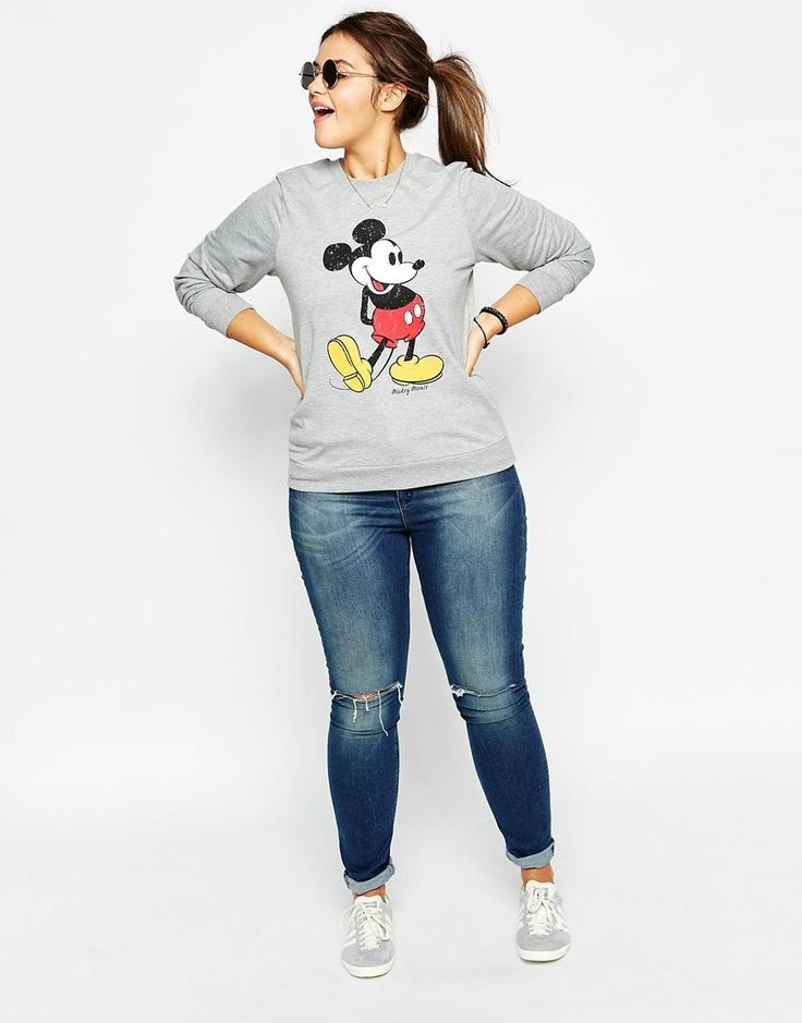ASOS Curve | ASOS CURVE Sweatshirt With Mickey Print at ASOS