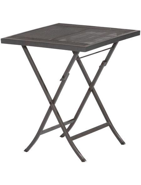 Gartentisch »Samos«, Stahl, klappbar, 60x60 cm, graphit Jetzt - garten lounge mobel holz