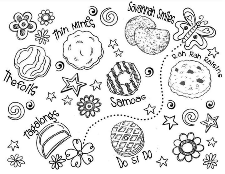 Brownie Girl Scouts Coloring Pages In Daisy Girl Scout Coloring Pages: Cookie Printable 2016