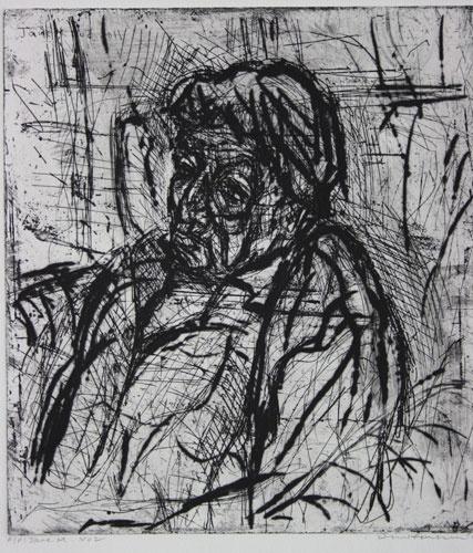 DAVID FAIRBAIRN  'Jane M. No.2'   2011  copper etching, ed. of 10  33 x 29.5 cm