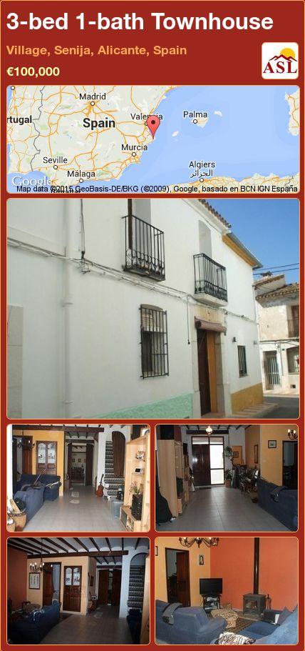 3-bed 1-bath Townhouse in Village, Senija, Alicante, Spain ►€100,000 #PropertyForSaleInSpain