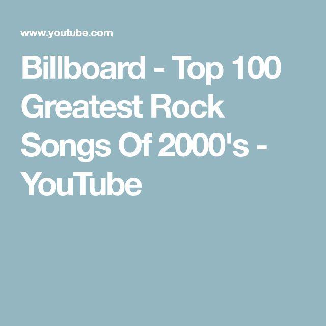 Billboard - Top 100 Greatest Rock Songs Of 2000's - YouTube