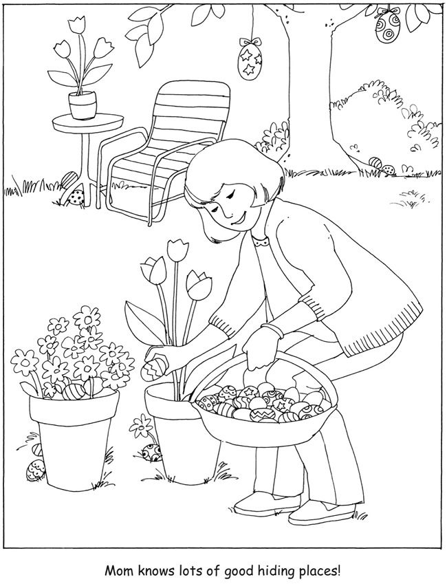 egg hunt coloring pages | 2524 best images about Coloring Pages on Pinterest ...