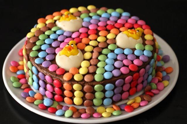 Smarties taart