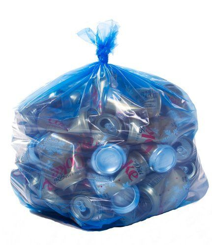 Blue Recycling Bags,40 Gallon,23x10x46,1.2 Mil,100/Case by PlasticPlace. $28.33. These garbage bags will not disappoint you. Our bags are full gauge, that means they are exactly as thick as we say they are. Our bags are made with Megablend resin thus ensuring consistent performance from each and every bag.