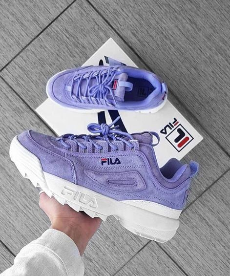 cf7432878554 Purple Kicks 💜💜 Baskets FILA Disruptor Violet, disponibles sur RunBabyRun