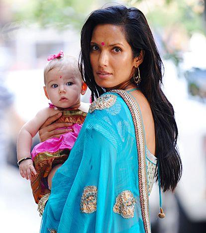 Padma Lakshmi w/daughter,Krishna Thea