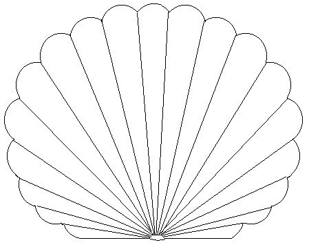 Printable Pictures of Seashells | Free Printable Coloring Pages for Kids Sea Shell, Star, Christmas Tree ...