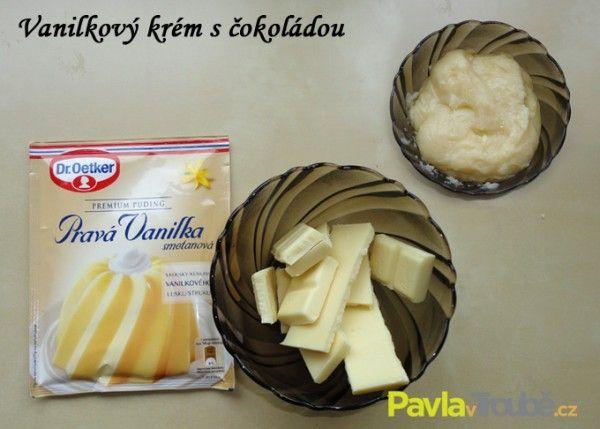 vanilkový krém s bílou čokoládou
