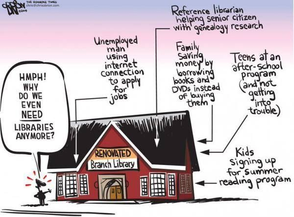 This fantastic library meme is going around at the moment, reminding everyone about the valuable role libraries still play in our lives: I agree! Not only do I love libraries, their studious calm a...