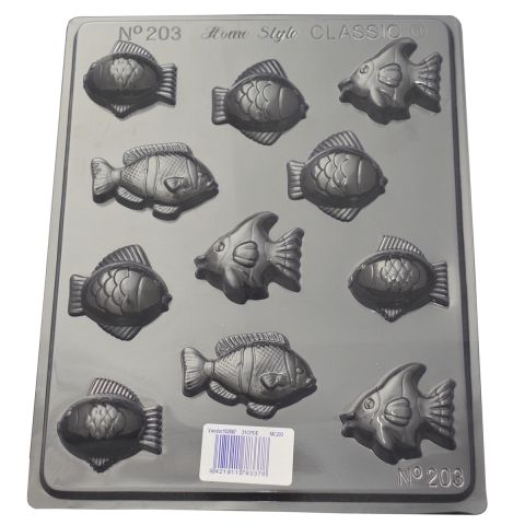 What a great selection of fish on this small fish chocolate mould