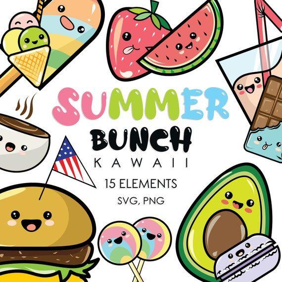 Kawaii Clipart Kawaii Svg Kawaii Gifts For Her Kawaii Printable Cartoon Clipart Summer Clipart Summer Gifts For Kids Summer Printable In 2020 Kawaii Clipart Cartoon Clip Art Kawaii Gifts