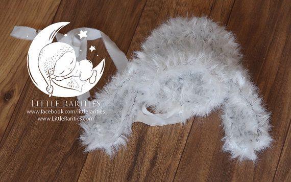 fur rabbit bonnet  newborn phot prop by LittleRaritiesStudio